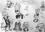 In Holy Agromony - Horror-fell design sketches