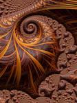 Brown Autumn Fractal Art