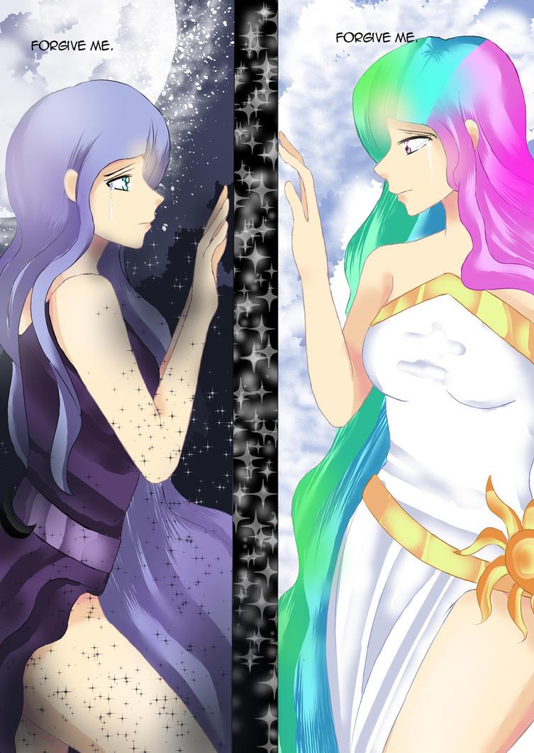 Princess Celestia and Princess Luna Human by ...