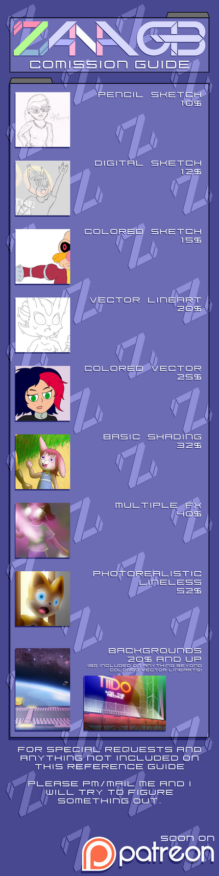 2015 Comission Guide by ZanaGB