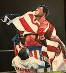 Rocky 4 Acrylic Painting