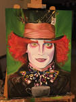 Mad Hatter Acrylic Painting