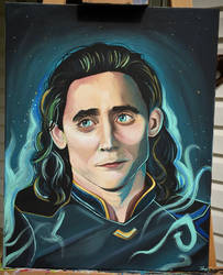 Loki Acrylic Painting
