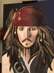 Captain Jack Sparrow Acrylic Painting