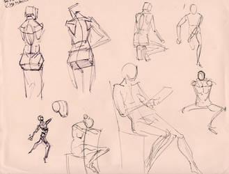 Figure studies 18 by lubu-art