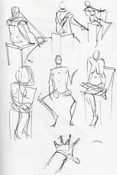 Figure studies 19 by lubu-art