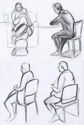 Figure studies #21 by lubu-art
