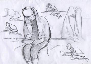 Bro sketches ( figure study #25) by lubu-art