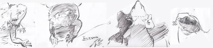 Oct 2016 Lizard Ink by lubu-art