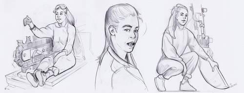 Character Studies -Simone Giertz- 2 by lubu-art