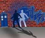 Graffiti TARDIS by Umanimo