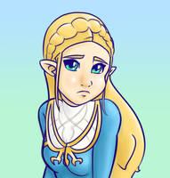 Zelda, Breath of the Wild by ereves