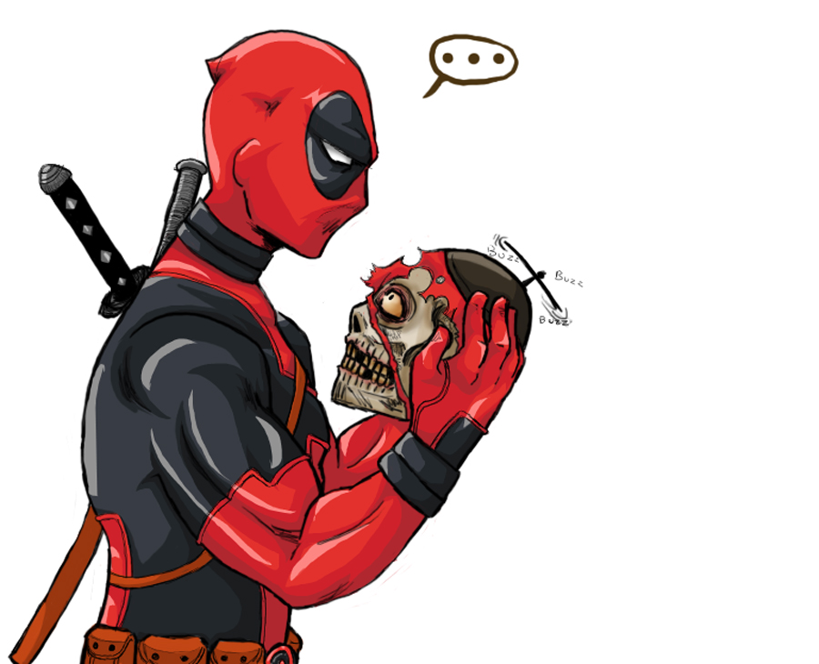 Deadpool and headpool by queen zombie on deviantart for Headpool
