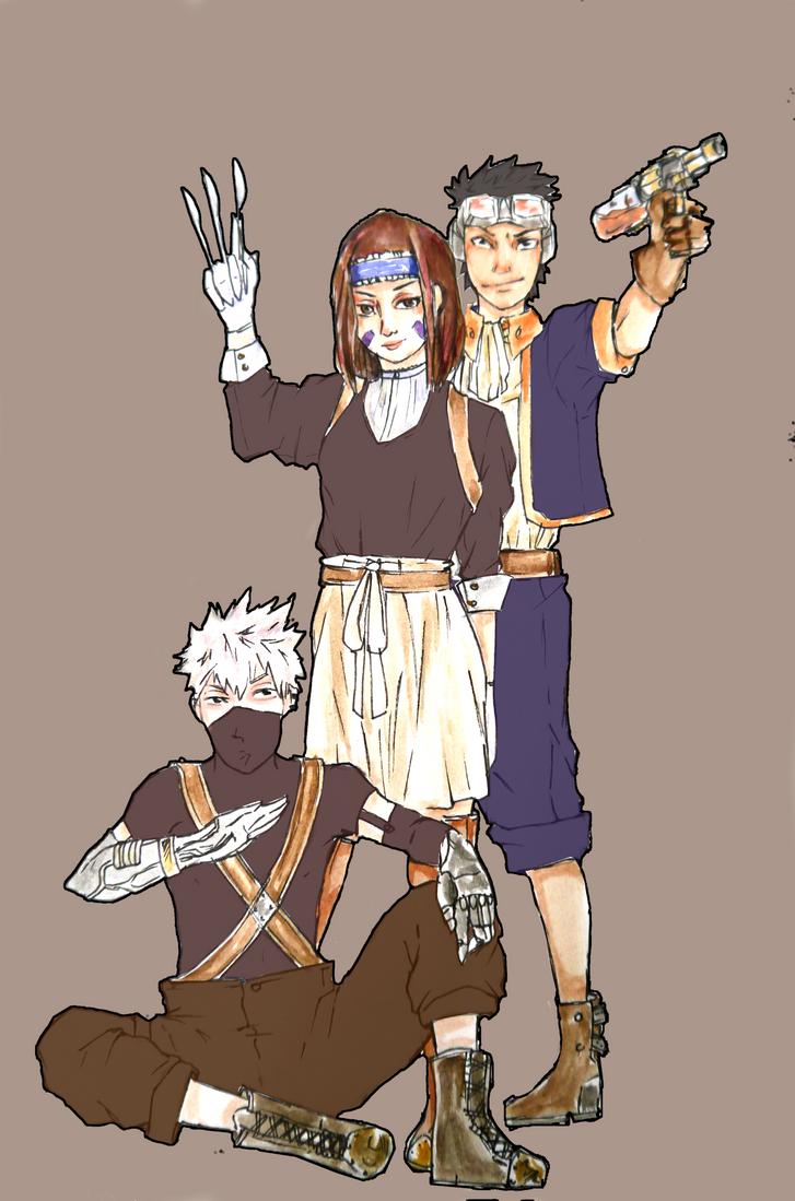 Steampunk AU:Kakashi, Rin and Obito by LittleBlackForest ...