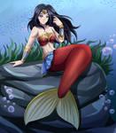 Mermaid Wonder Woman (Commission)