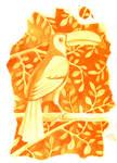 Tucan in orange