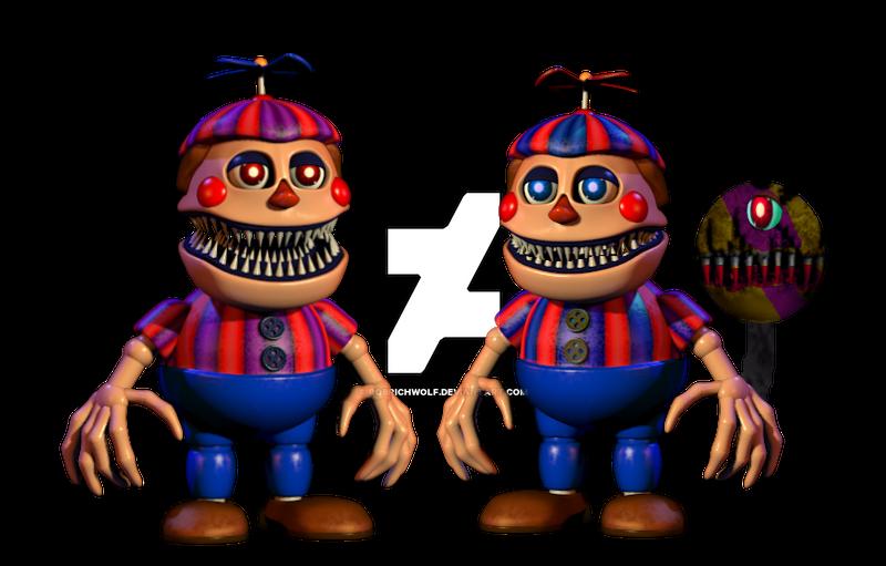 Fnaf 2 Version Nightmare Balloon Boy By Robrichwolf On DeviantArt