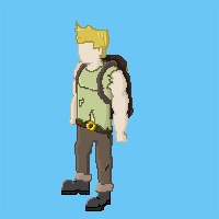 Farm Boy Adventurer with Backpack by Ventus-Fall