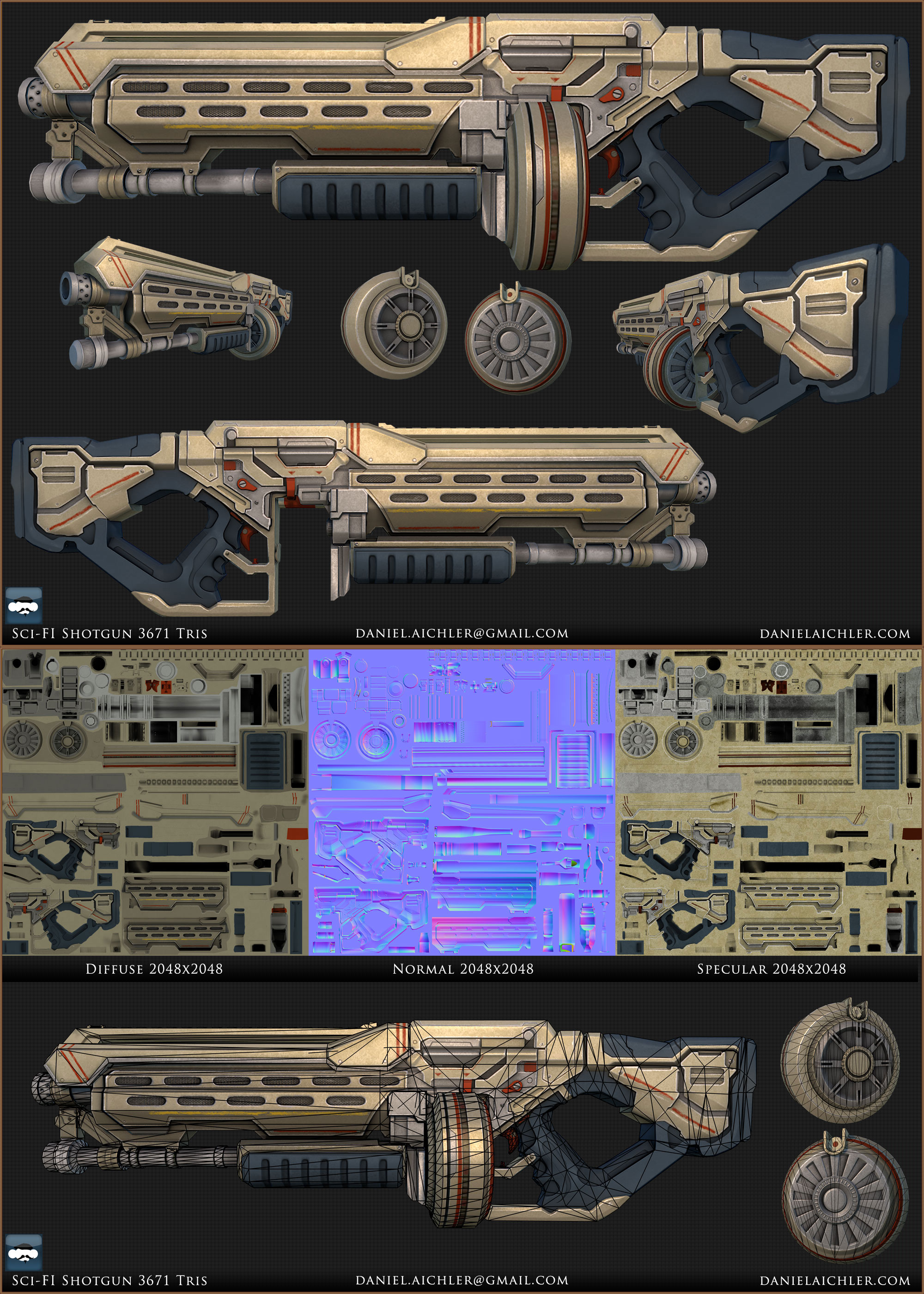 Sci-Fi Shotgun by ravital