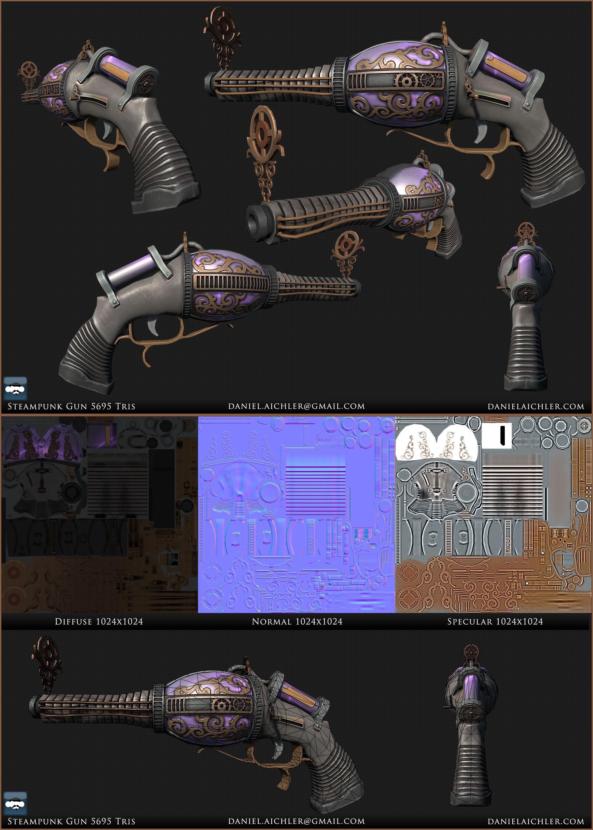 Steampunk Lazer gun by ravital