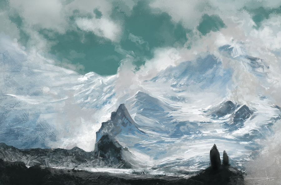 Ice mountain journey by Oission