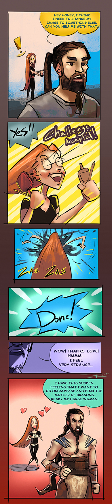 Me ++ Diana Comic by Oission