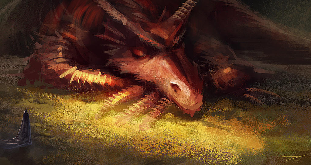 Sleeping dragon by Oission