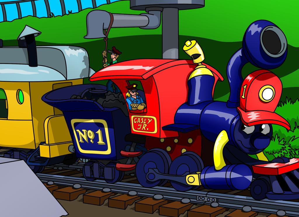 Dumbo Casey Jr Circus Train