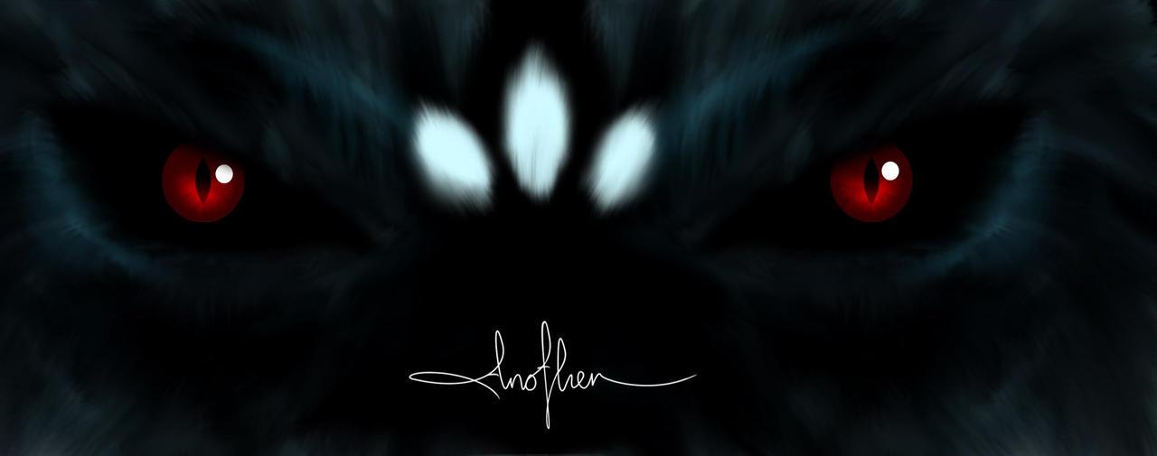 Wolf eyes in dark - photo#26
