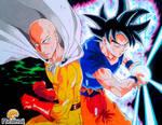 Saitama vs. Goku Migatte no Gokui by Neokoi