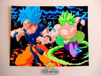 Goku vs Broly by Neokoi