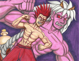 Oni Punch color by Zachary-Walter