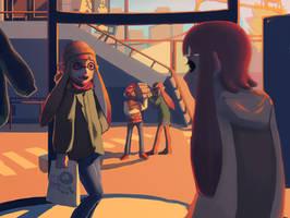 squids on a shopping spree by dubiousmushroom