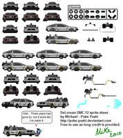 DeLorean Sprites Sheet by Mike-Dragon