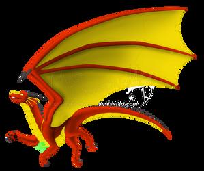 Commish -  Crimson Dragon King: Flying Free