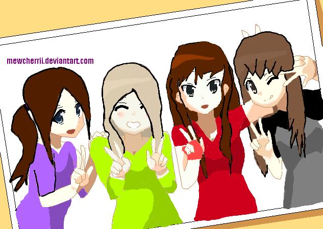 4 Anime Friends Base   www.pixshark.com - Images Galleries ...