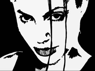 Angelina Jolie High Contrast