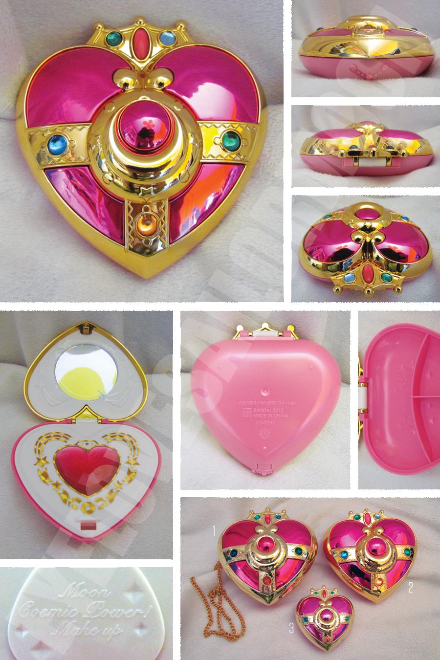 Sailor Moon Makeover Compact Mirror Item arrangement Spiral heart