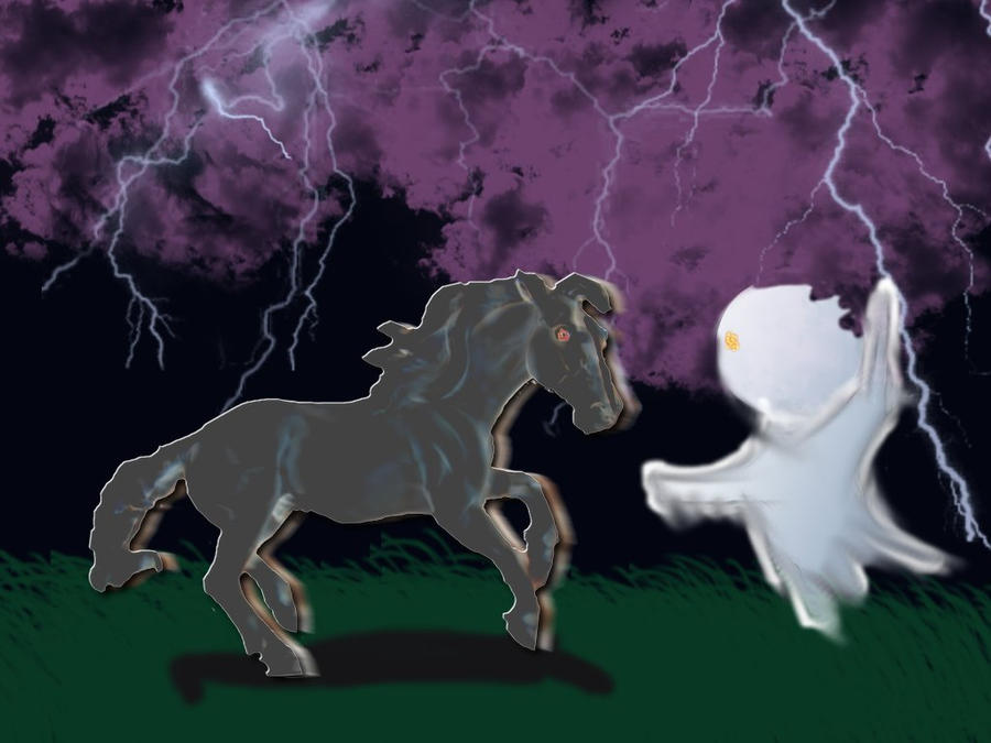 Spooky Halloween Horse by WildHorseFantasy