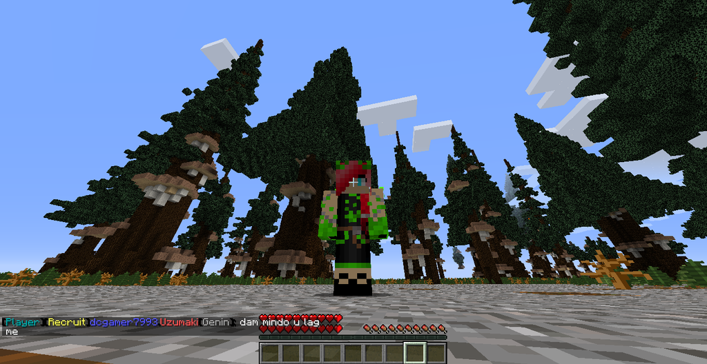 blue eyed pick haired green fire demon mc skin by AngeltheforgottenRO