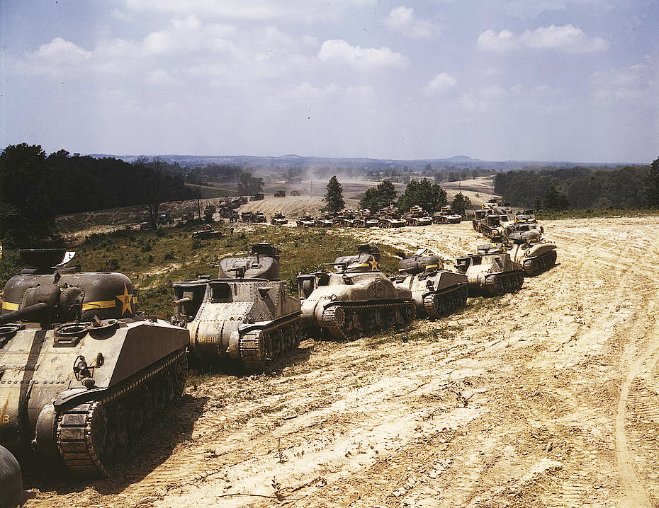 M-4 tank line, Ft. Knox, Ky. by makepictures