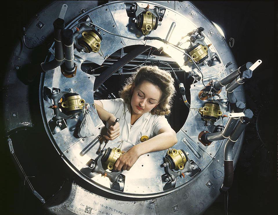 women at work on war effort by makepictures