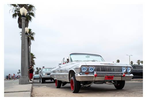 Car at Overcast Beach