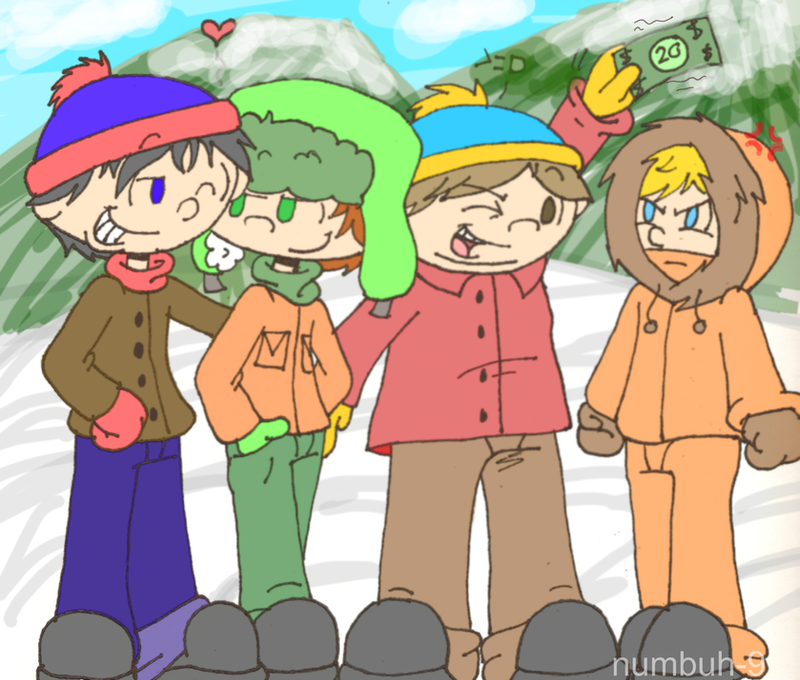 South Park boys KNDified by Numbuh-9