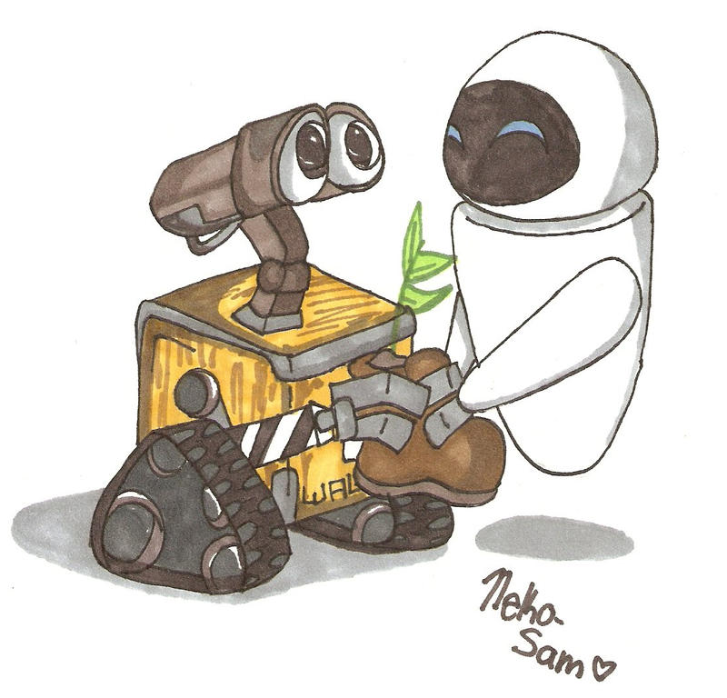 Art-Trade:. WALL-E and Eve by Numbuh-9 on DeviantArt