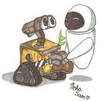 .:Art-Trade:. WALL-E and Eve