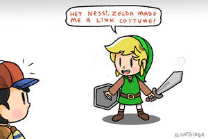 Lucas and his Link cosplay by ILOVEGIR64