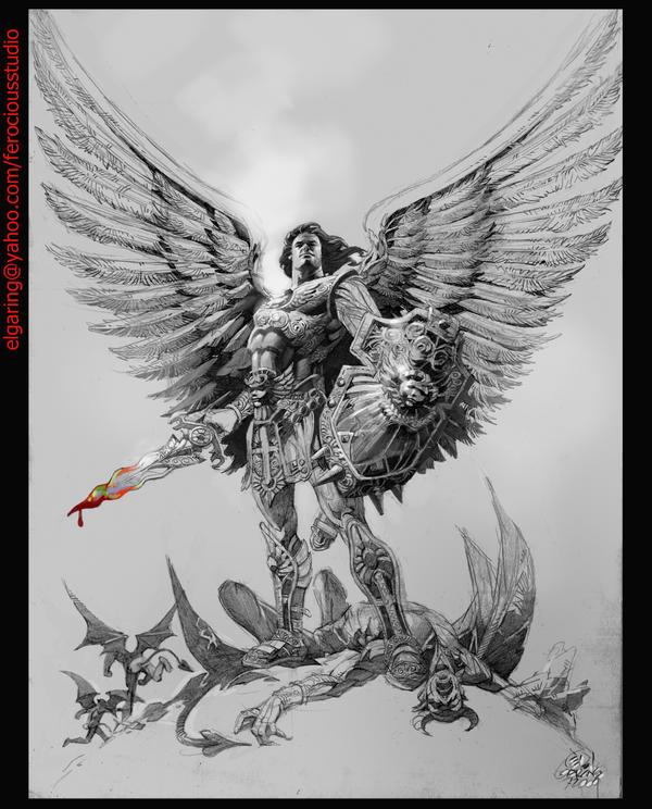 Angels And Devil Art