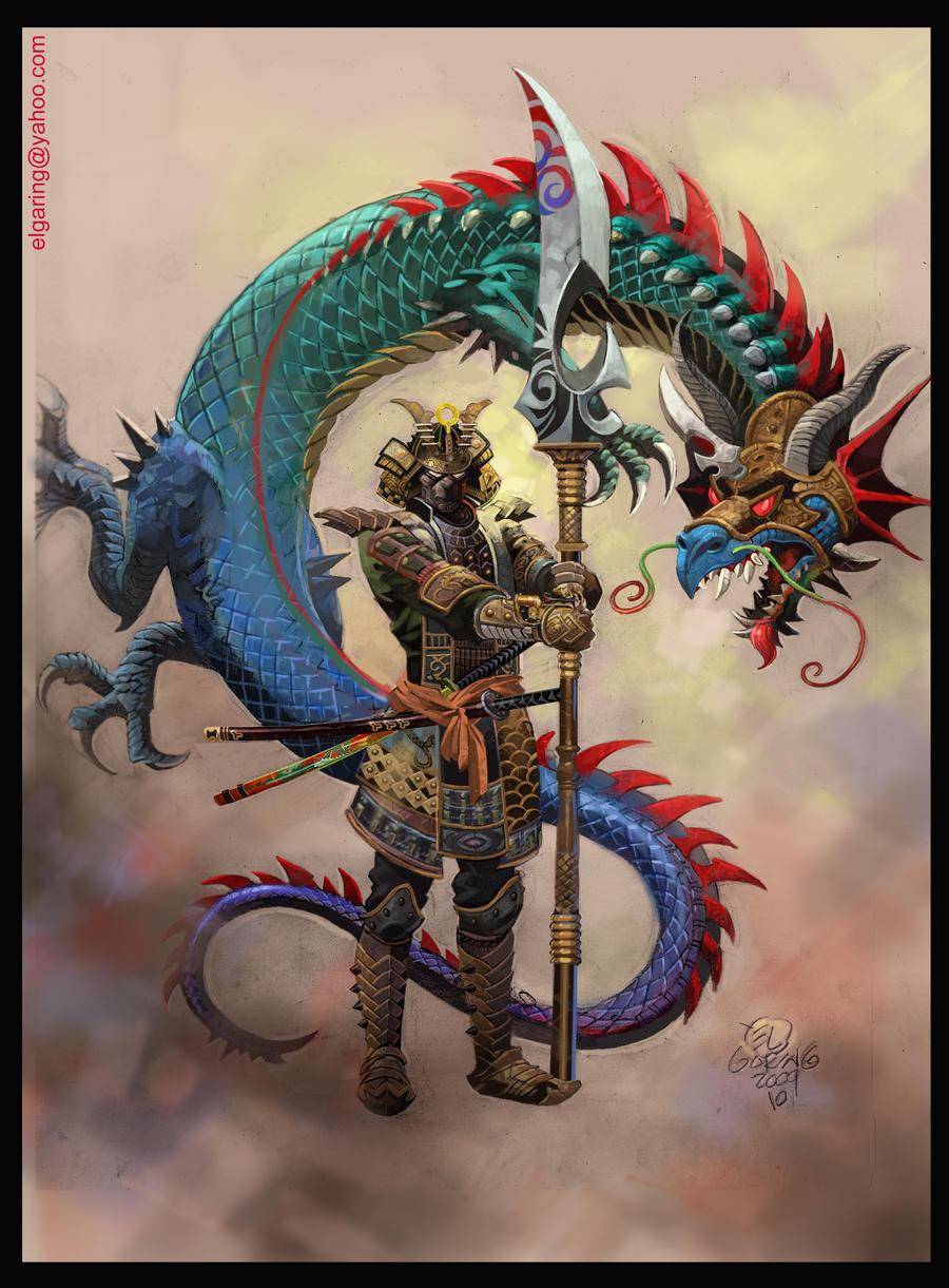 El Samurai Dragon-color by elshazamDragon Samurai