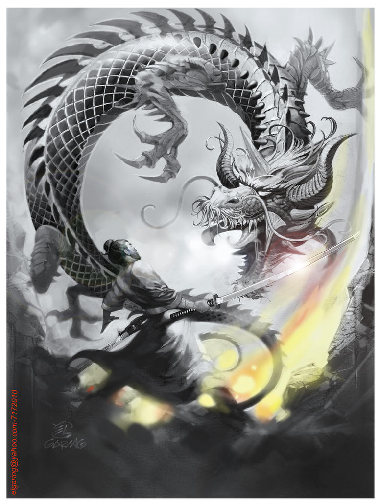 Art Vs Design : Dragon samurai el by elshazam on deviantart